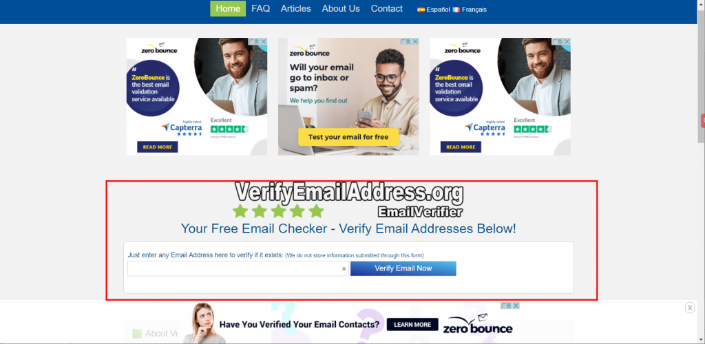 verify email address-free email checker